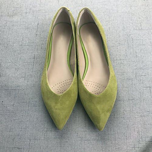 WENJUN Zapatos De Moda De Todo Terreno Zapatos De Piel De Oveja Anti-pelo Zapatos Planos Confort De Cuero No Usar...