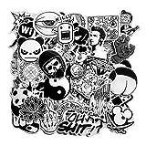 Blue Vessel 60pcs Stil Random schwarz und weiß Graffiti Aufkleber Kofferaufkleber Aufkleber Album Aufkleber Personalisierte Aufkleber