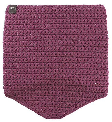 UGG Women's Crochet Snood with Lurex & Sequins Bougainvillea Multi Scarf One Size