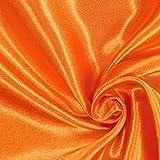 Fabulous Fabrics Polyestersatin 20 orange — Meterware ab