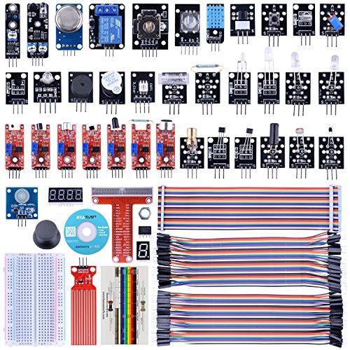 kuman Sensor Module Kit 38-1 con Tutorial para Raspberry Pi RPi 3 2 Model B + A A + 44pcs Components K47