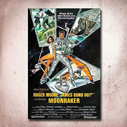 Preisvergleich Produktbild James Bond Moonraker Film Movie Tin Sign Metal Sign Metal Poster Metal Decor Metal Painting Wall Sticker Wall Sign Wall Decor
