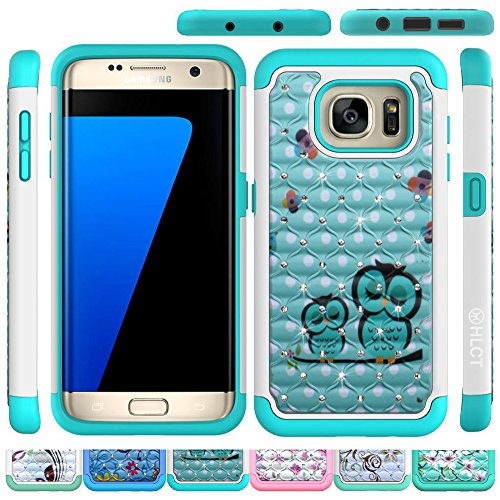 Galaxy S7Edge Schutzhülle, hlct Rugged Bling Diamant soft-interior TPU Bumper und hart PC Shell zweilagige Fall zurück (2016) Edge-car-audio
