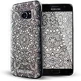 Galaxy S7 Edge Coque,Lizimandu 3D Motif Tpu Silicone Gel Étui Housse Protection Shell Cover Case Pour Samsung Galaxy S7 Edge(Fleur Blanche/White Flower)
