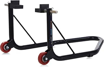 GrandPitstop Rear Paddock Stand with Swingarm Rest - Black