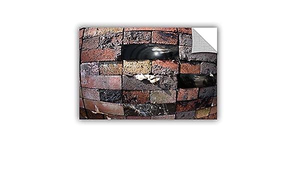 24 x 36 ArtWall 0bal006a2436p Carolyn Ballous Swollen Bricks Removable Wall Art