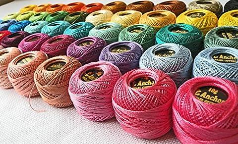 40 ANCHOR Pearl Cotton Crochet Threads Balls. J & P