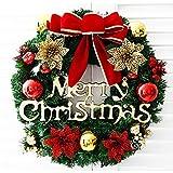 Kerstkrans kerstboom ronde ring handgemaakte elegante kerstkrans grenen krans deur wand slinger decoratie