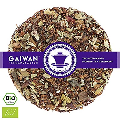 """N° 1424: Thé rooibos bio """"Pomme cuisinée"""" - feuilles de thé issu de l'agriculture biologique - GAIWAN® GERMANY - rooibos, anis, cassia, réglisse, fenouil, amandes, pomme, saveur naturels, rose"""