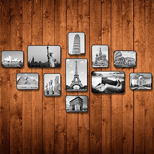 Bilderrahmen Collage Musik Klassenzimmer Fotowand Ausbildung Klassen Audio Zubehör Klavier Wandbilder (Farbe : Pattern 3) - Klavier-klassen