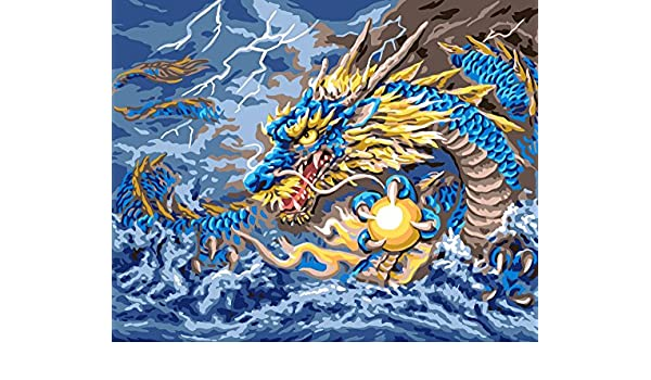 Mythical Dragon Tapestry Needlepoint Canvas
