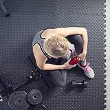 TecTake 12 x Bodenschutz Matte Schutzmatten Set Fitness Unterlegmatte EVA-Schaum | Maße pro Matte: ca. 63×63 cm - 2