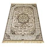 WEBTAPIS Tapis motif oriental dessin persan tapis salon RUBINE 317-GRIGIO 160X230...