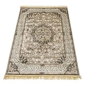 webtapis tapis motif oriental dessin persan tapis salon rubine 317 grigio parure. Black Bedroom Furniture Sets. Home Design Ideas