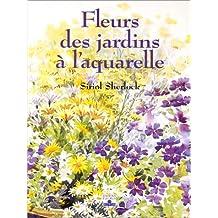 Fleurs des jardins à l'aquarelle