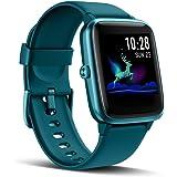 LATEC Smartwatch, fitnessarmband, volledig touchscreen, fitnesstracker, IP68 waterdicht, fitnesshorloge met hartslagmeter, st