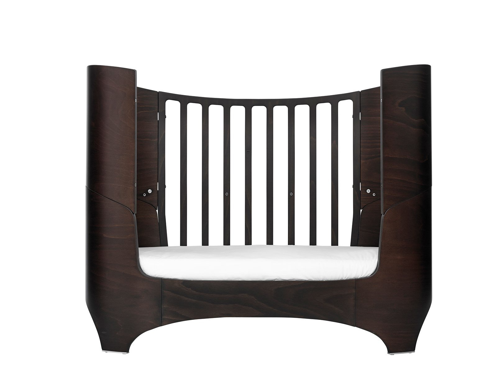 Baby Kids Wooden Junior Bed Leander Walnut  Description: The Leander baby bed is very practical thanks to its clever design and will fit perfectly in your baby's bedroom. 3