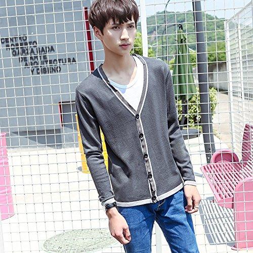 Dunkelgraue Sweatshirts (Das Shirt Pullover student Männer Fashion Trend Sau koreanische Version von Jugend, die dunkelgraue Serie L)