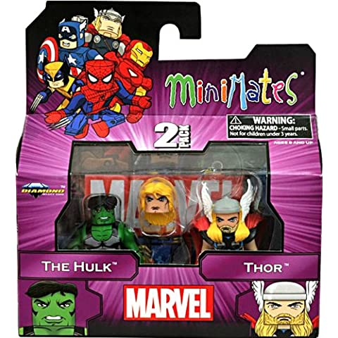 Marvel Minimates Series 44Mini figura 2Pack, Hulk y Thor