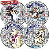 Calcomanías de recompensa escolar holográfica de ositos polares de Frozen, 37 milímetros x 70 - Servicios de enseñanza primaria