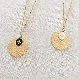 Collier double médailles petite Croix en acier inoxydable Blanche - Médaille croix...