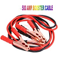 Andride Car Heavy Duty Auto Jumper Cable Battery Booster Wire Clamp with Alligator Wire (7ft, 500 AMP)
