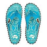 Gumbies - Damen Zehentrenner - Rosa/Blau Schuhe in Übergrößen