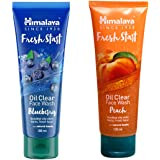 Himalaya Fresh Start Oil Clear Face Wash, Blueberry and Peach, 100ml (Combo) - Pack of 1