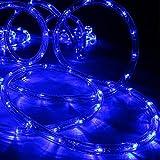 LED Lichtschlauch blau 9 m für Garten innen