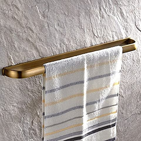 Weare Home Retro Bathroom Accessories Solid Brass Antique Brass Finished Towel Bar Home Decor Towel Holder Towel Bars Wall maounted