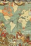 Diario de viaje Mapa del mundo vintage antiguo. Cuaderno de notas para regalar: Wanderlust Journals