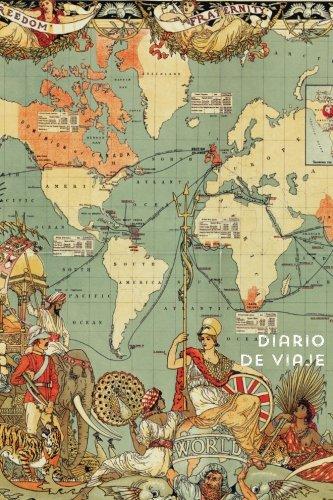 Diario de viaje Mapa del mundo vintage antiguo. Cuaderno de notas para regalar: Wanderlust Journals por Wanderlust Journals