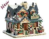 Lemax 85321 - Lone Pine Christmas Decorations - NEU 2018 - Vail Village - Beleuchtetes & Animiertes Gebäude aus Porzellan / Weihnachtshaus - Dekoration / Weihnachtsdeko - Kleine Weihnachtswelt / Weihnachtsdorf