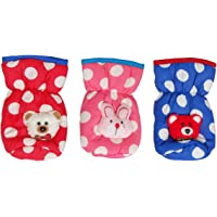 Fancy Walas Presents New Born Baby Feeding Bottle Cover Cotton Fabric Feeder Cover for Baby Bottle Pack of 3 Pcs (Red, 150ml)
