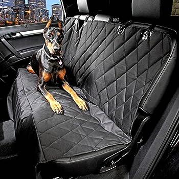 Black Friday Promotion PEDY Housse de Siège Protection Voiture Auto Couverture Tapis Etanche Noir pour Chien Pet Banquette Animal