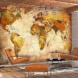 murando - Papier peint intissé Vintage 400x280 cm - Papier peint - Tableaux muraux - Déco - XXL Carte du monde k-A-0315-a-a