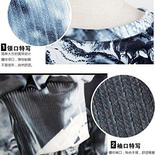 THENICE Women'Pullover Sweatershirts Digital Print Langtou Skull