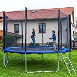Gartentrampoline Trampoline Outdoor-Trampoline Fitness-Trampoline 370cm , inkl. Sicherheitsnetz,Schuhtasche, Bodenanker, Leiter und Abdeckplane - 3