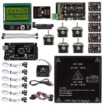 SainSmart Rampe 1.4 + A4988 + Mega2560 R3 + LCD 12864 3D Kit Printer Controller per RepRap