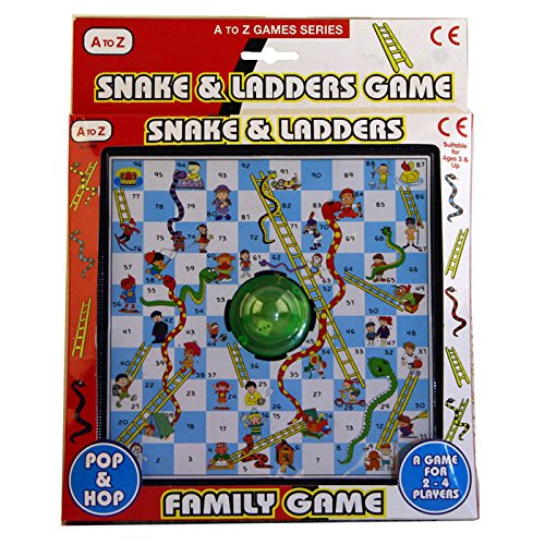 A to Z Pop & Hop Snakes and Ladders Game - Snakes Ladders