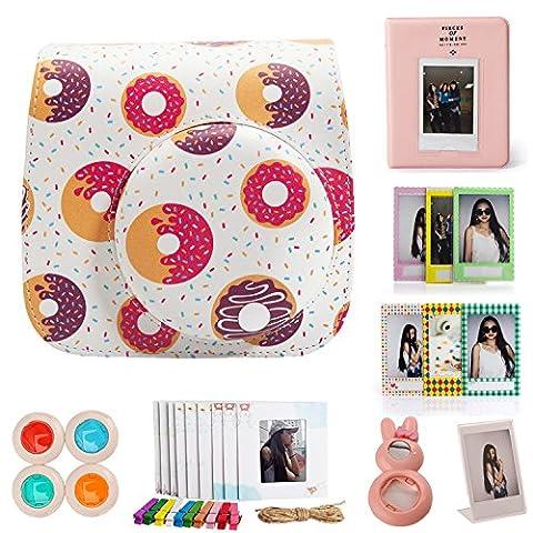 Woodmin Donut Fujifilm Instax Mini 8 8+ Mini 9 Instant