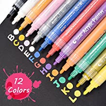 WCOCOW 12/24 Colores Pintura Impermeable Aceite Art Marker Pen (12colours)