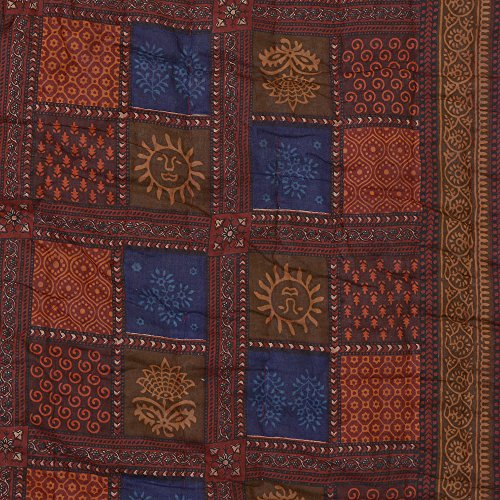 Spangle Jaipuri Dabu Print Reversible Double Bed Rajai /Quilt