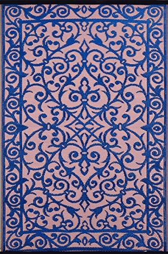 Green Decore Gala Tapis léger intérieur/extérieur réversible Plastique 150 x 240 cm Bleu classiqueVieux rose