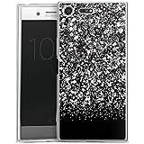 Sony Xperia XZ Premium Slim Case Silikon Hülle Schutzhülle Glitzer Glitter Muster
