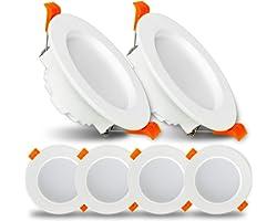 LED Spot Encastré 9W Spot Led Encastrable Ketom Downlight LED Blanc Froid 6500K 620LM Rond Extra Plate Spot Plafond pour Sall