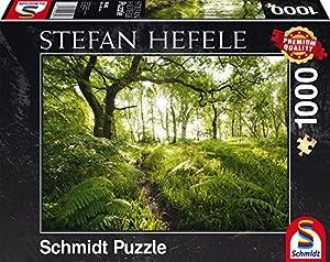 Schmidt Spiele 59382-Stefan hefele, la verwunschene Franja, Rompecabezas, 1000Piezas