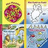 Ravensburger Mini-Bilderspaß 51 - Spiel & Spaß für überall 2 (4er-Set): Mini-Punkt-zu-Punkt, Mini-Rätsel, Mini-Mandalas, Mini-Labyrinthe