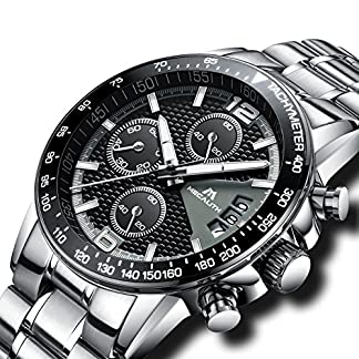Herren-Edelstahl-Uhren-Mnner-Chronograph-Sport-Wasserdicht-Datum-Kalender-Luxus-Design-Armbanduhr-Geschfts-Beilufig-Mode-Kleid-Stoppuhr-Analog-Quarz-Uhr-mit-Schwarz-Zifferblatt-Silber-Uhrenarmband