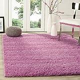 BRAVICH RugMasters Soft PInk Medium Rug 5cm Thick Shag Pile Soft Shaggy Area Rugs Modern Carpet Living Room Bedroom Mats 80x150cm (2